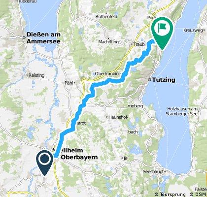 Von Weilheim nach Feldafing über Wilzhofen und Monatshausen