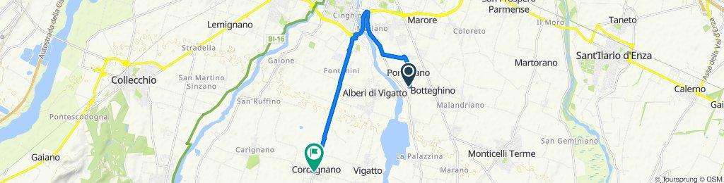 Da Strada Bassa dei Folli 175, Porporano a Strada Cava in Vigatto 2/A, Corcagnano
