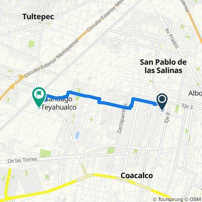 De Rinconada San Felipe 328, San Francisco Coacalco a Calle Morelos Oriente 20, Santiago Teyahualco