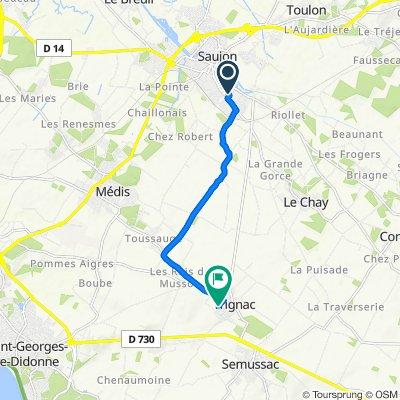 De 2 Impasse des Roses, Saujon à 20 Rue Moulin du Canard, Semussac