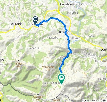 Itinéraire à partir de 390 Route Karrika Nagusia, Espelette