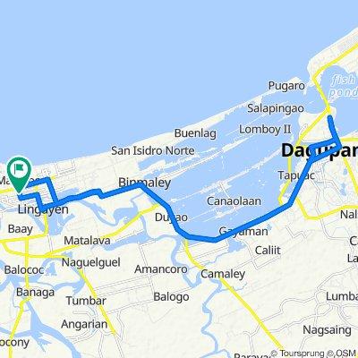 Avenida Rizal West 39, Lingayen to Avenida Rizal West 39, Lingayen