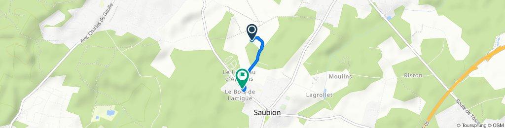 De Route de la Bruyère, Saubion à 451–523 Route de Seignosse, Saubion