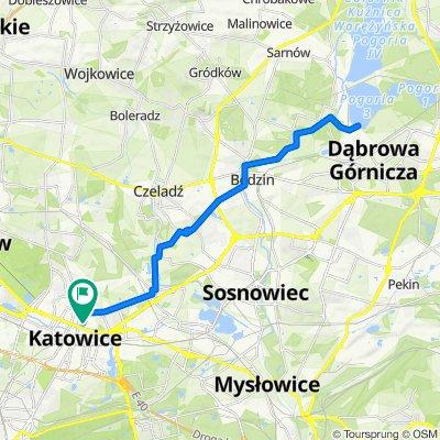 🚴🏼♂️ Katowice ➡️ Pogoria III / przez Zamek w Będzinie