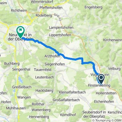 Rückweg Schwarze Laber 20 km