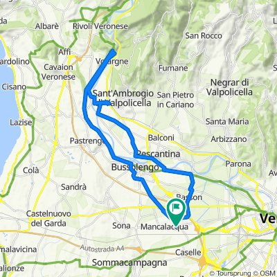 Da Via Cao del Prà 60, Lugagnano a Via Cao del Prà 60, Lugagnano