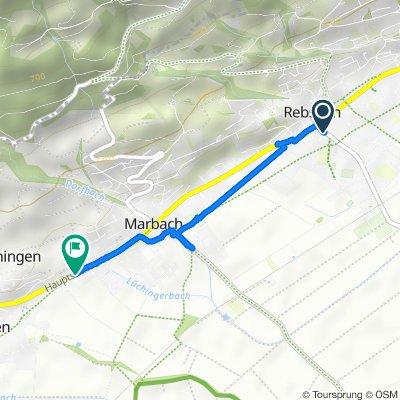 Bahnhofstrasse 23, Rebstein nach Gehrenmoosstrasse 28, Altstätten