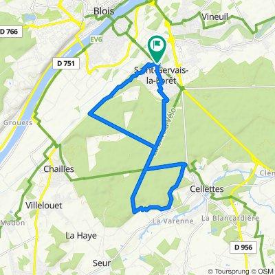 De 5 Rue du Val Fleuri, Saint-Gervais-la-Forêt à 4 Rue du Val Fleuri, Saint-Gervais-la-Forêt
