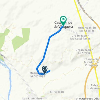 Ruta a Calle Calzada, Castellanos de Villiquera