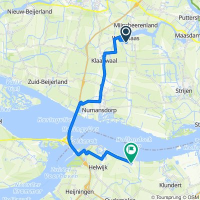 Route van Cabbeweide 26, Westmaas