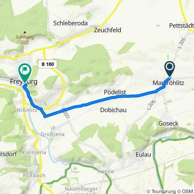 Merseburger Straße 1, Goseck nach Kirchstraße, Freyburg (Unstrut)
