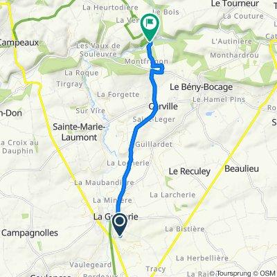 Itinéraire à partir de 7 Chemin des Carrières, La Graverie
