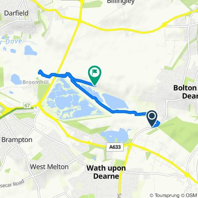 Route from Dearne Road, Rotherham
