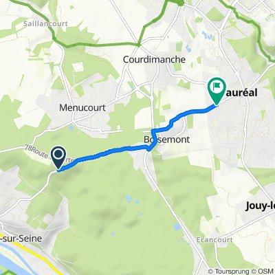 De Route de Pontoise, Vaux-sur-Seine à 91 Avenue Simone Signoret, Vauréal