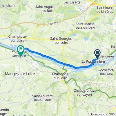 Itinéraire vers 2 Rue de la Bogatterie, Montjean-sur-Loire