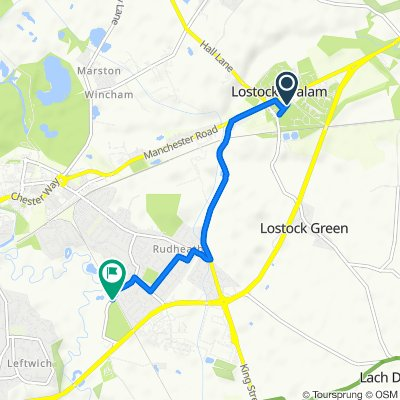12 School Lane, Northwich to 127 Shipbrook Road, Northwich