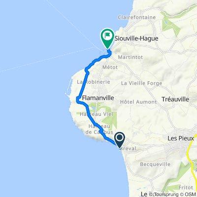 De Route de Fort 21, Les Pieux à Port Dielette, Tréauville
