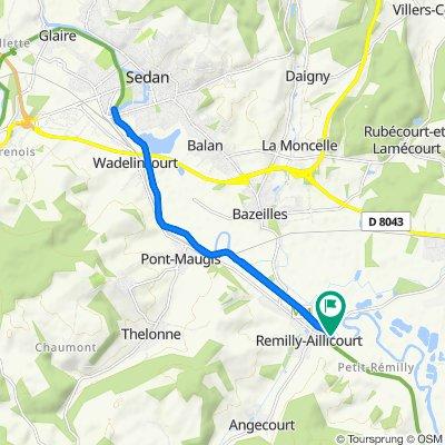 De Route de Douzy, Remilly-Aillicourt à Route de Douzy, Remilly-Aillicourt