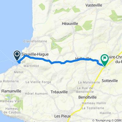 De Port Dielette, Tréauville à D4, Sotteville