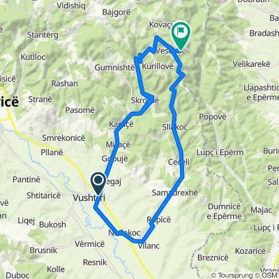 Route from Gjon Buzuku, Vushtrri