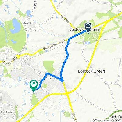 12–14 Stubbs Lane, Northwich to 127 Shipbrook Road, Northwich