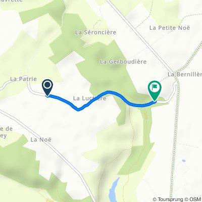 De La Patrie, Moulicent à La Grossinière, Moulicent