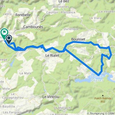 Itinéraire vers Les Barrières, Boissezon
