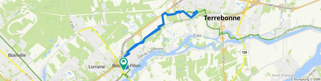 De 436 Rue Édouard-Lafortune, Bois-des-Filion à 436 Rue Édouard-Lafortune, Bois-des-Filion