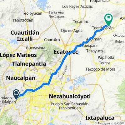 Route from Paseo de los Tamarindos 90, Mexico City
