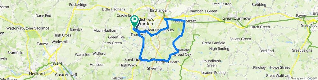 Friedberg Avenue, Bishop's Stortford to 50 The Thatchers, Bishop's Stortford