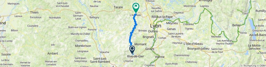 De 23 Rue Antoine Seytre, Saint-Martin-la-Plaine à 15–146 Chemin du Creux, Saint-Germain-Nuelles