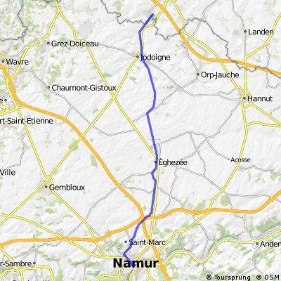 Hoegaarden - Namur ( Teil der Ravel 2 )