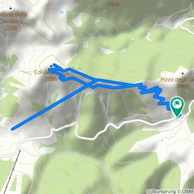Da Localita' Passo Brocon 2, Castello Tesino a Localita' Passo Brocon 2, Castello Tesino