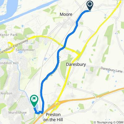Route to Marina Village, Runcorn