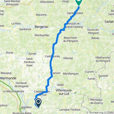 Saint-Salvy nach Unnamed Road, Val de Louyre et Caudeau