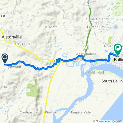 293–311 Wardell Road, Lynwood to Kerr Street, Ballina