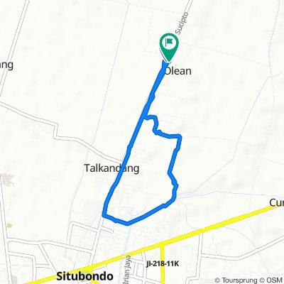 Jalan Sucipto, Kecamatan Panji to Jalan Raya Olean 86, Kecamatan Situbondo