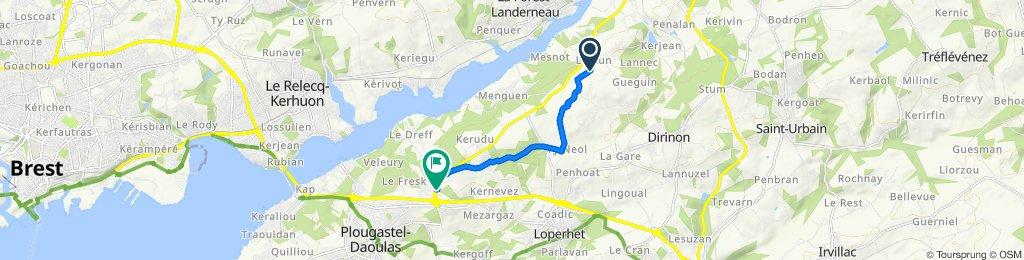 Itinéraire vers 20 Rue Jacques de Thézac, Plougastel-Daoulas