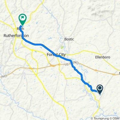 413–549 Hendrick Rd, Mooresboro to 121 Northview-Dorsey St, Ruth