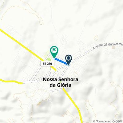 De Rua Senador Leite Neto, 235–547, Nossa Senhora da Glória a Rua Mestre Sinhozinho, 173–297, Nossa Senhora da Glória