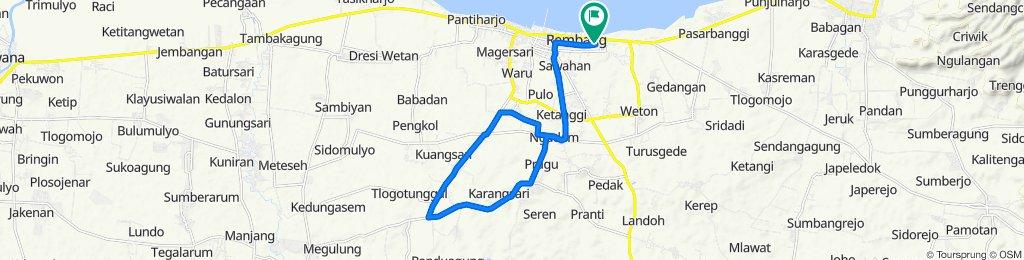 Jalan Adipati Honggodjojo 61, Kecamatan Rembang to Jalan Adipati Honggodjojo 61, Kecamatan Rembang