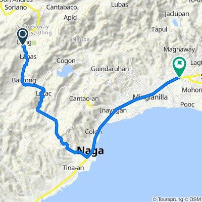 Uling-Naga Road, Naga City to Cebu South Road, Talisay City