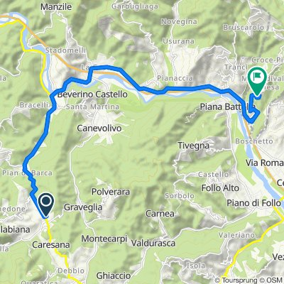Traversa Terza Aurelia 8, Ricco' Del Golfo di Spezia to Via Casa Magrino 1–23, Podenzana