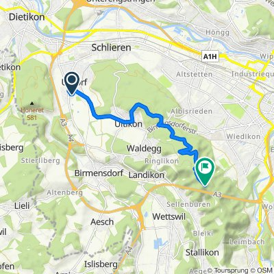 Bachstrasse 17, Urdorf nach Uetliberg 652, Stallikon