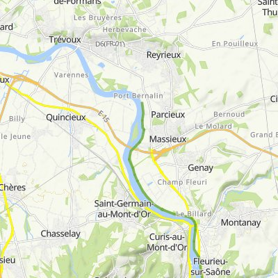 De 2 Quai de Villevert, Albigny-sur-Saône à 2 Quai de Villevert, Albigny-sur-Saône