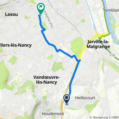 De Avenue Emile Haquin 2, Heillecourt à Rue Général Hoche 12, Nancy