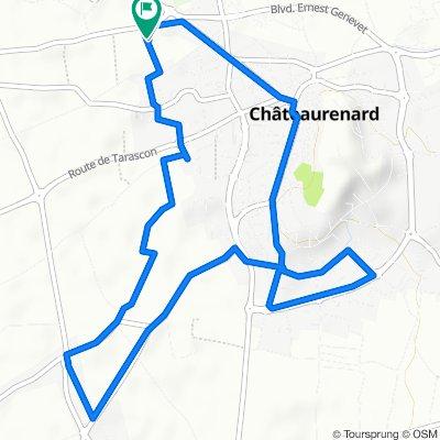 De 203A Chemin du Barret, Châteaurenard à 203A Chemin du Barret, Châteaurenard