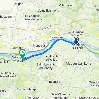De Rue de la Repiellerie, Montjean-sur-Loire à 6 Place Maubert, Saint-Florent-le-Vieil