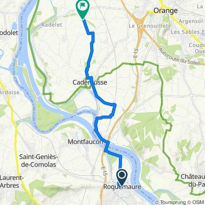Itinéraire à partir de 6 Place de la Mairie, Roquemaure