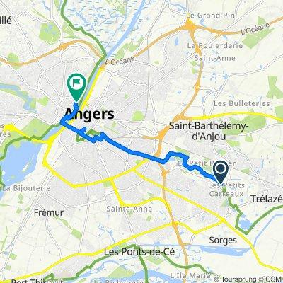 De D117, Trélazé à 2 Boulevard Arago, Angers